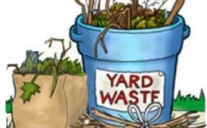 Yard waste graphic