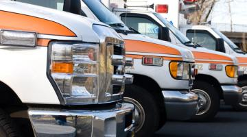 line up of ambulances